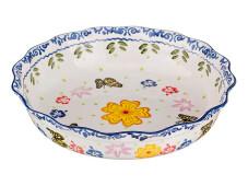 Блюдо 30см Agness цветы керамика 536027