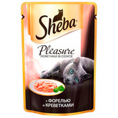 Корм для кошек Sheba Pleasure 85г с форелью и креветками
