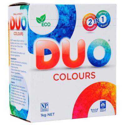 Стиральный порошок дуо 1 кг д/цветных тканей 2в1 концентрированный