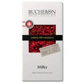 Шоколад молочный Bucheronс с малиной 100г