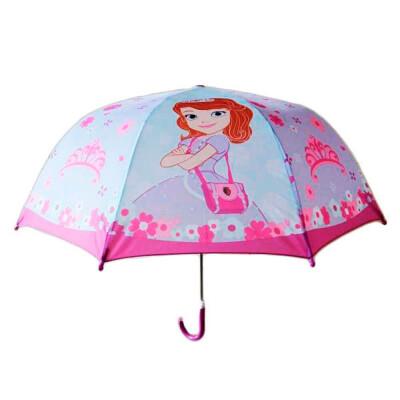 Зонт детский фееринки прозрачный со свистком 45 см