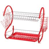 Подставка-сушилка под посуду+пластиковый поддон Agness 40*25*37см) 917-017