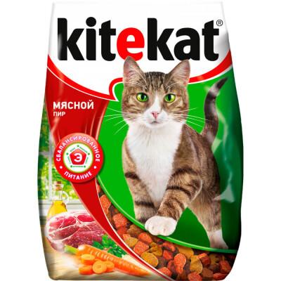 Корм для кошек Kitekat 1,9кг мясной пир