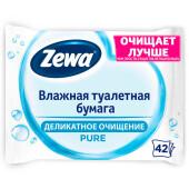Туалетная бумага Zewa без аромата, влажная, 42 шт