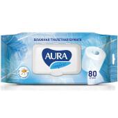 Влажная туалетная бумага Aura 80шт