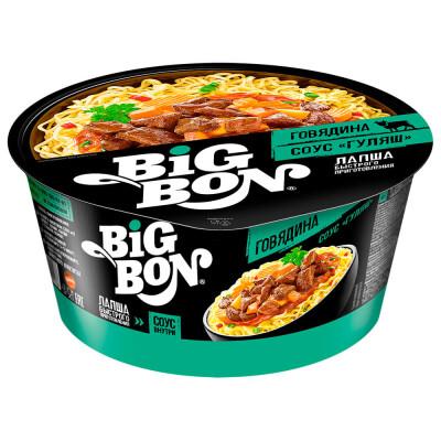 Вермишель Big Bon 85г говядина+соус гуляш тарелка