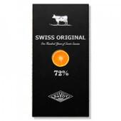 Шоколад горький Swiss original с кусочками апельсина 100г 72% какао