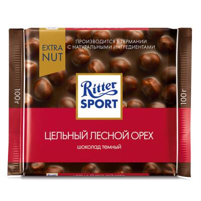 Шоколад Ritter Sport 100г темный цельный лесной орех экстра