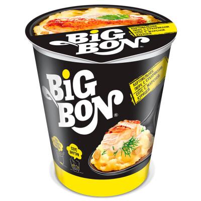 Картофельное пюре Big Bon 60г с сухариками и соусом с жареной курицей б/п стакан