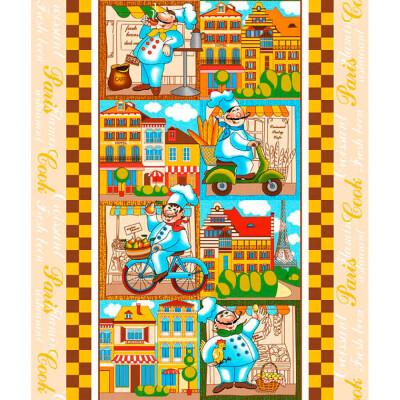 Полотенце кухонное ДомВелл 50*75см Париж рогожка 213940