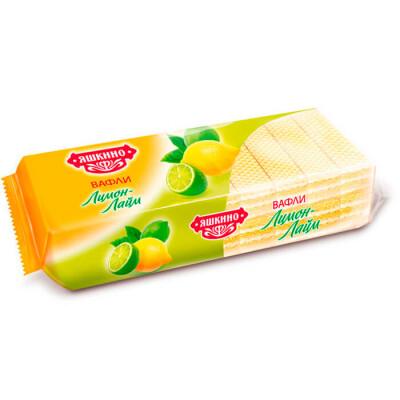 Вафли Яшкинские 300г лимон-лайм яшкинский