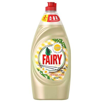 Средство для мытья посуды Fairy 900мл нежные руки ромашка и витамин е