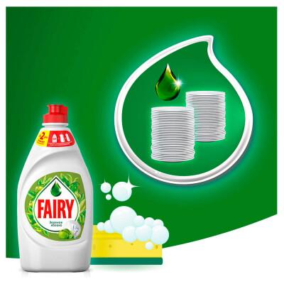 Средство для мытья посуды Fairy 900мл зеленое яблоко