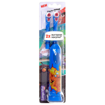 Зубная щетка электрическая Angry Birds от 3-х лет+ насадка