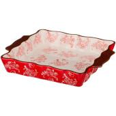 Блюдо для запекания 30*25*5 см Agness керамика красный 536-155