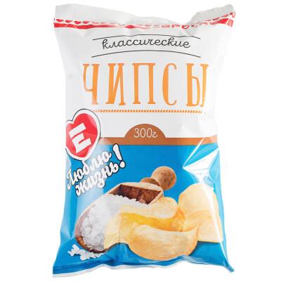 Чипсы Люблю Жизнь с солью 300г