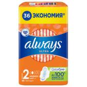 Прокладки Always 36шт ультра нормал квадро