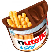 Паста Nutella 52г ореховая с добавлением какао и хлебные палочки Ferrero