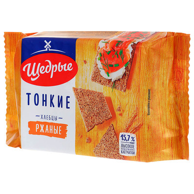 Хлебцы Щедрые 170г ржаные тонкие