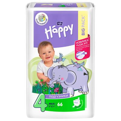 Подгузники Bella Baby Happy 66шт maxi 8-18кг