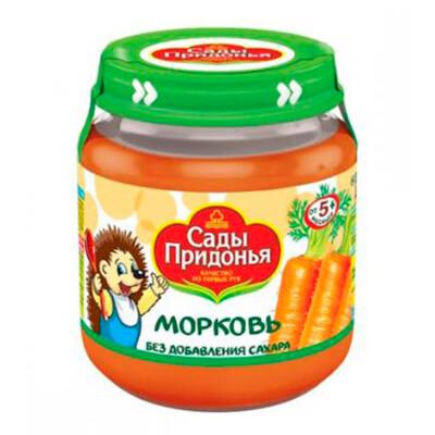 Пюре Сады придонья 120г морковь с 5 месяцев стекло