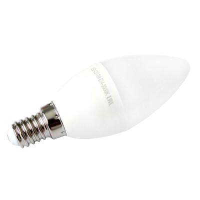 Лампа светодиодная Европа 7Вт Е14 свеча теплый свет