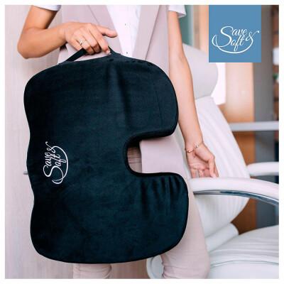 Подушка Save&Soft Ufo Black для сидения 45*37*7см черный в сумке пвх