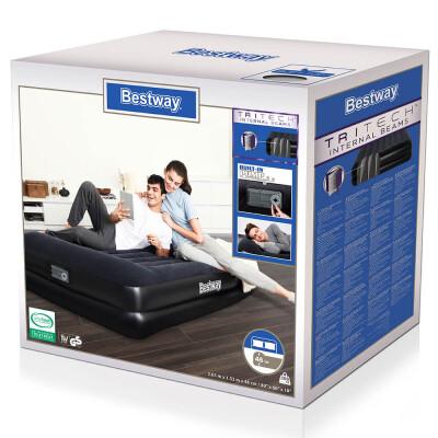 Матрас надувной Bestway 203*152*46см встроенный электрический насос 67403 30563