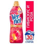 Кондиционер 910мл Vernel дикий гибискус и масло розы