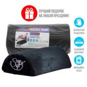 Подушка-валик Save&Soft болстер черный 40*20*10см в пэ пакете