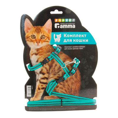 Поводок-шлейка для кошек Гамма 40*30см