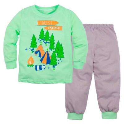 Пижама д/мальчиков машук джемпер и брюки р.32 зеленый 353д-1121п