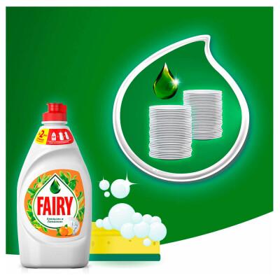Средство для мытья посуды Fairy 900мл апельсин и лимонник