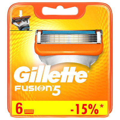 Кассеты Gillette Fusion 6шт