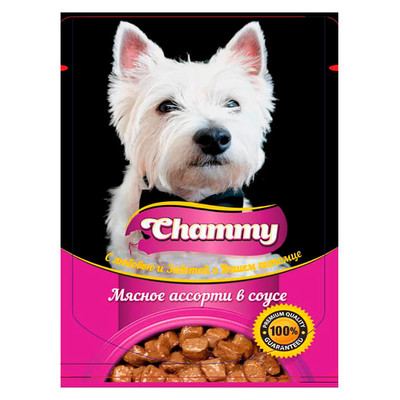Корм для собак Chammy 85г мясное ассорти в соусе