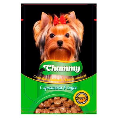 Корм для собак Chammy 85г с кроликом в соусе