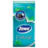 Носовые платки Zewa Deluxe ментол, 3 слоя, 10 шт