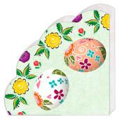 Салфетки Арт Букет 12шт 32см 3 слоя декоративные яйца пасхальные круглые