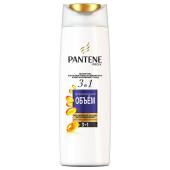 Шампунь Pantene 360мл 3в1 дополнительный объем