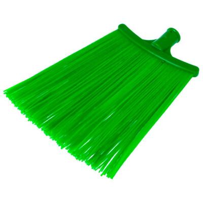 Метла синтетическая плоская зеленая