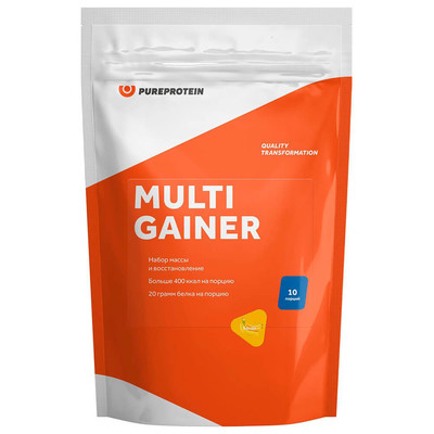 Мультикомпонентный Gainer Pure Protein 1кг банан