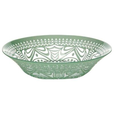 Тарелка обеденная 22см Pasabahce бохо зеленая psb 10335убсл1