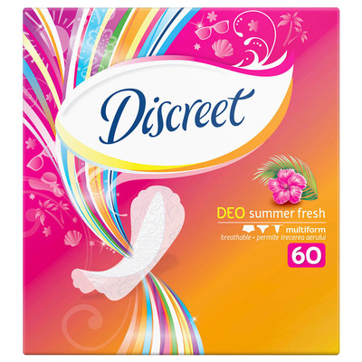 Прокладки ежедневные Discreet 60шт део летняя свежесть