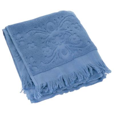 Полотенце Arya 70*140см изабель Soft бахрома голубой