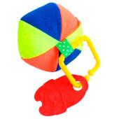 Погремушка-прорезыватель пластмастер мячик 11176