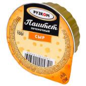 Паштет рузком печеночный 100г сыр ж/б