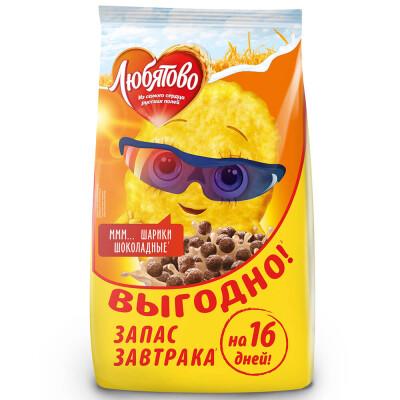 Шарики Любятово 500г шоколадные юнайтед бейкерс пакет