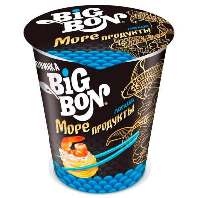 Лапша Big Bon 70г с морепродуктами стакан