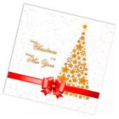 Салфетки хоум коллекшен 20 шт 33*33 см 3 слоя новогодня ель на красном