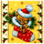 Салфетки Home Collection 20шт 33*33см 3 слоя плюшевый мишка
